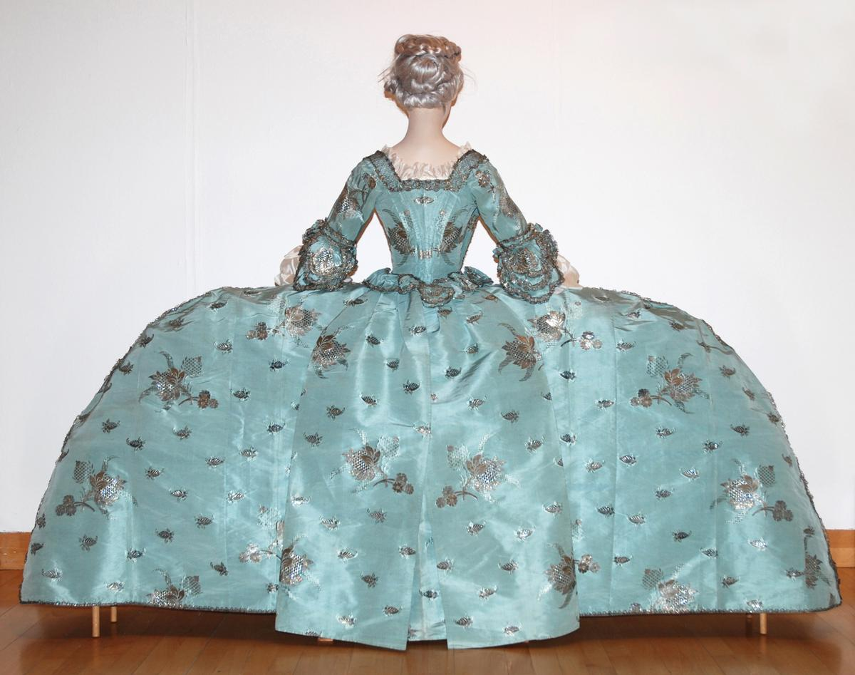 The Court Mantua dress from 1750 that will be displayed at Tullie House Museum and Art Gallery