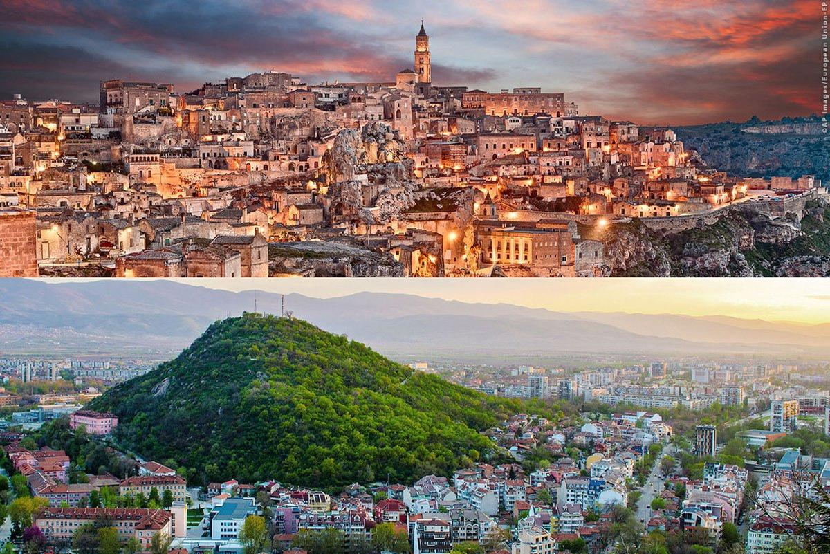 Matera (top) in Italy and Plovdiv in Bulgaria are Europe's 2019 Capitals of Culture / EU Commission