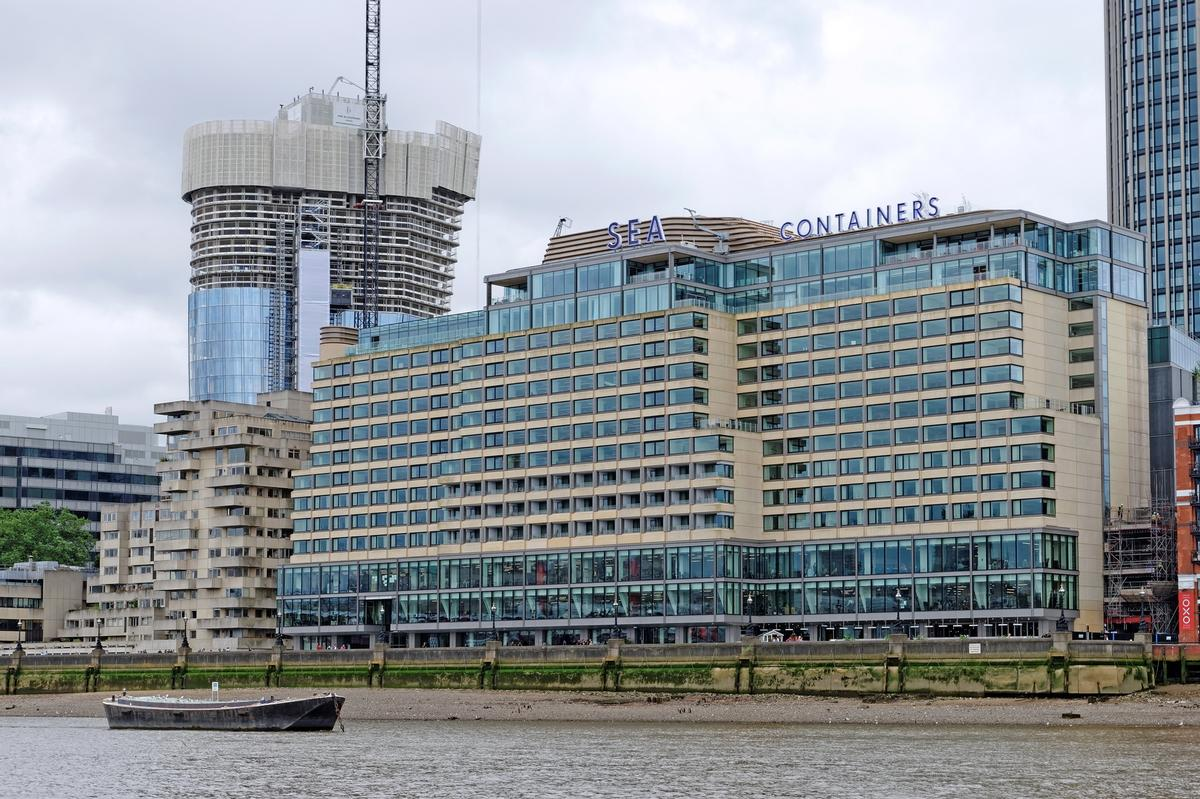 The hotel has been renamed Sea Containers London in tribute to its iconic location / Shutterstock