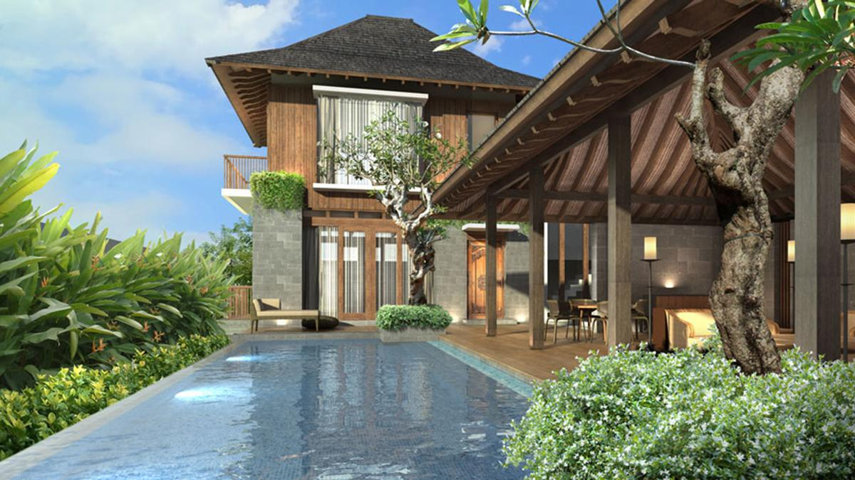 Modern Balinese architecture pays homage to the island's natural landscapes and manmade temples