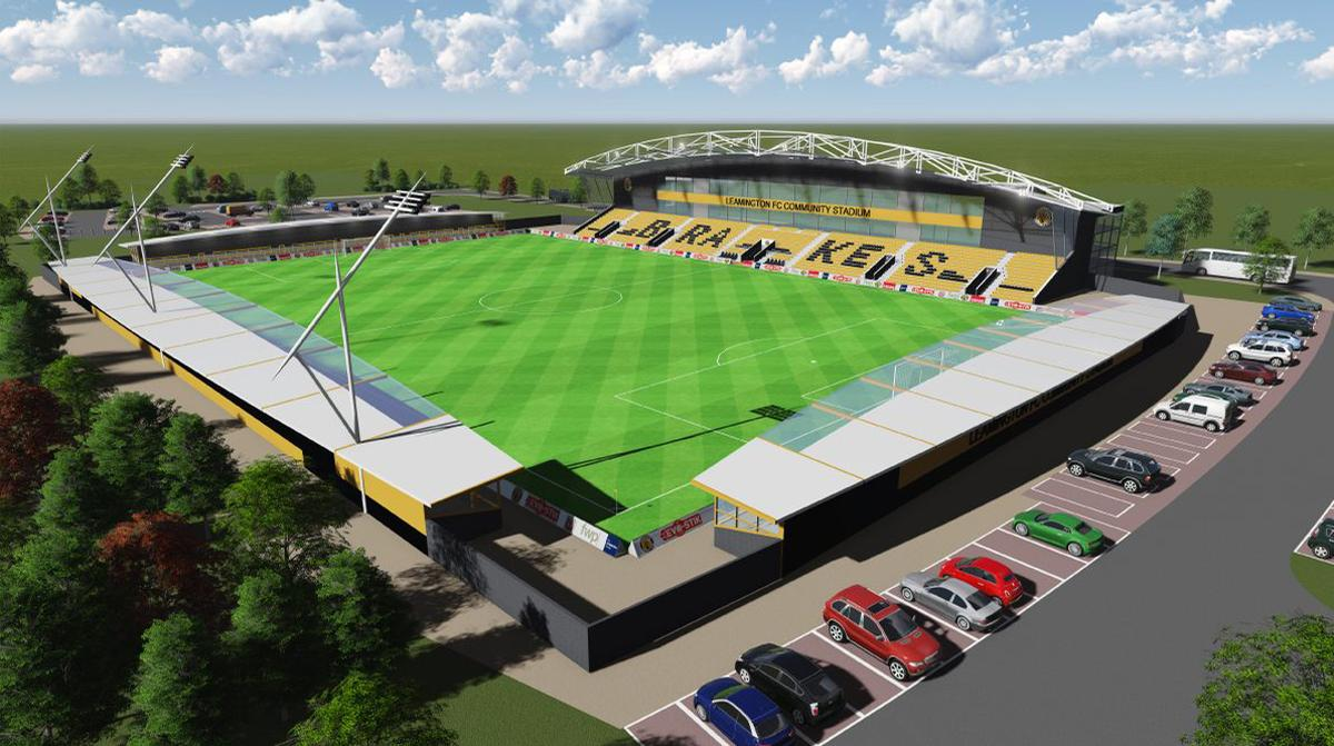 Plans for the site include a 5,000-capacity football stadium with a 3G artificial pitch