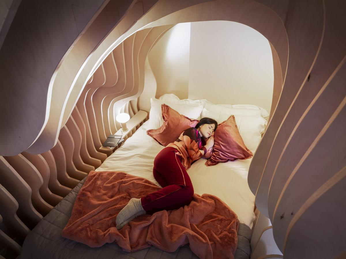 The Womb Room is one of the highlights of Cuckooz's serviced flats in Shoreditch, London. / Courtesy of Cuckooz and Simba