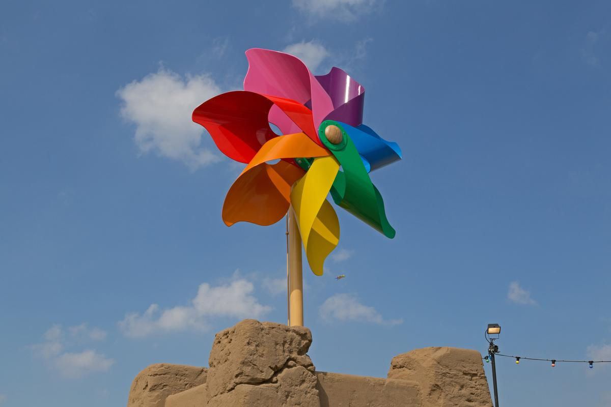Banksy's Pinwheel in Weston-super-Mare will be permanently housed using money from the Coastal Revival Fund / Keith Ramsey / Shutterstock
