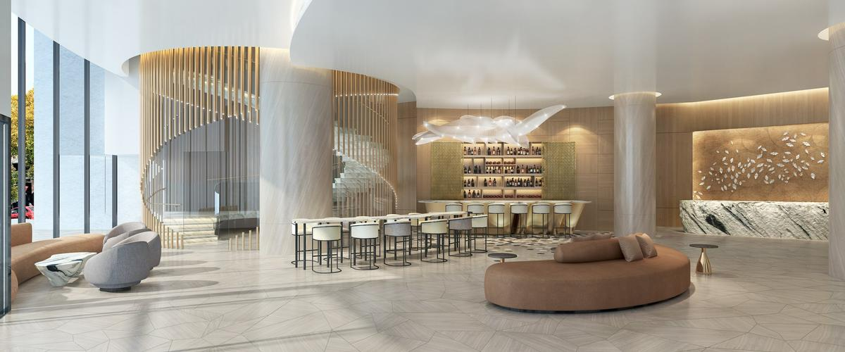 Interior design firms attached to the project include Hirsch Bedner Associates and Weber Thompson. / Courtesy of Fortress Development