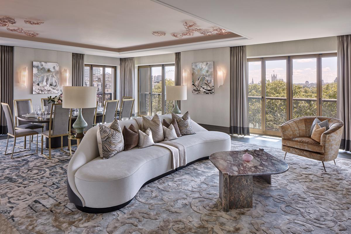 Martin Kemp Design created the interiors for the property's 34 apartments. / Courtesy of Clarges Mayfair