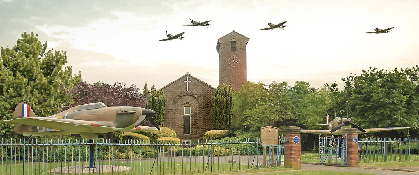 The historic airfield site is also home to St George's RAF Chapel of Remembrance, where those who died working from Biggin Hill sector are commemorated
