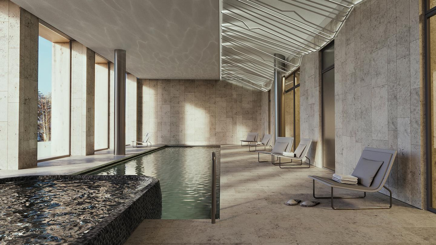 Set to open in Q3 2019, the spa will include 15 treatment rooms, relaxation areas, an indoor pool with sauna, fitness area, restaurant and childrens area