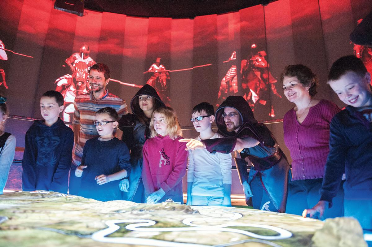 Visitors to the Bannockburn visitor centre in Scotland, which, along with Wales and Northern Ireland, will make many of its own heritage lottery funding decisions in future / National Trust Scotland