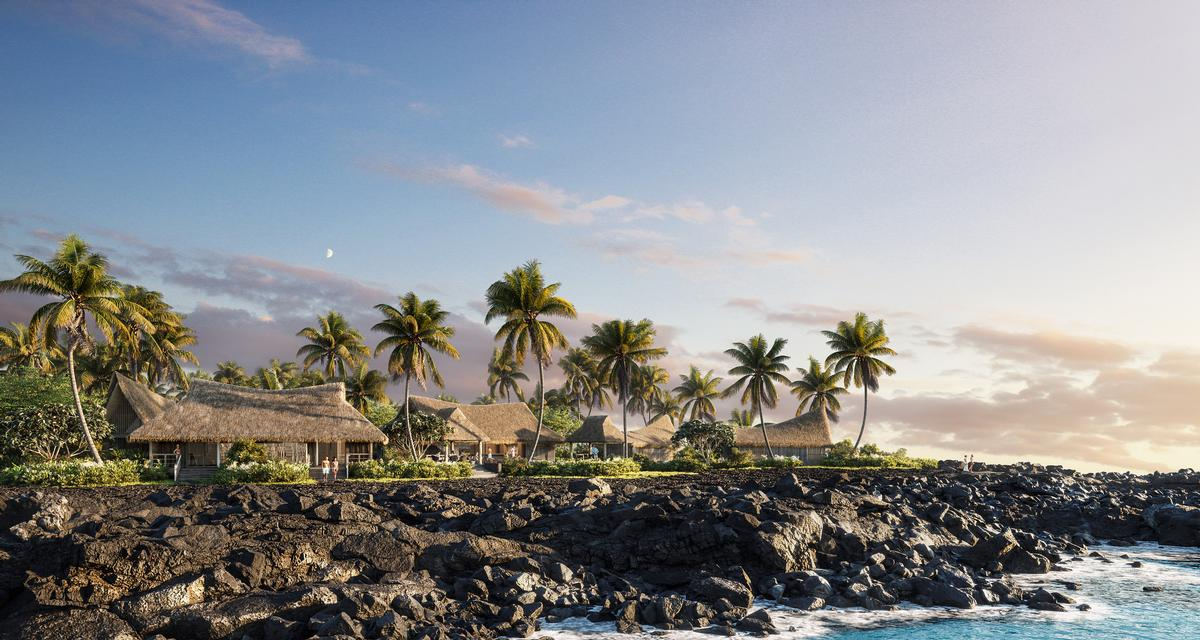 Conceptualised and developed by explorer Johnno Jackson in the early 1960s, the original Kona Village Resort was best known for its free-standing, palm thatch roof 'hales' and tranquil location