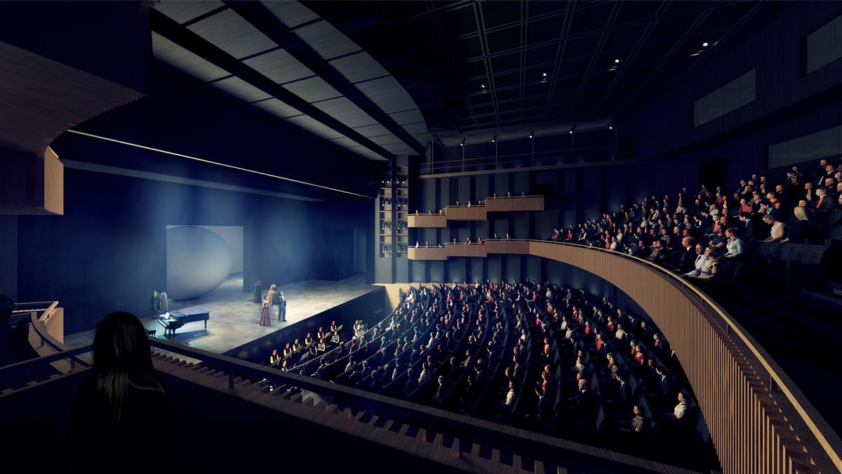 The new opera will feature an 800-seat auditorium. / Courtesy of Henning Larsen