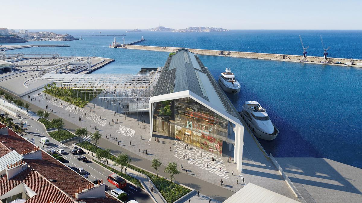 Hailed as a 'gateway to the open sea' the new attraction will feature extensive recreational facilities, including a water park, esports space, floating pool, and climbing wall. / Courtesy of Reichen and Robert