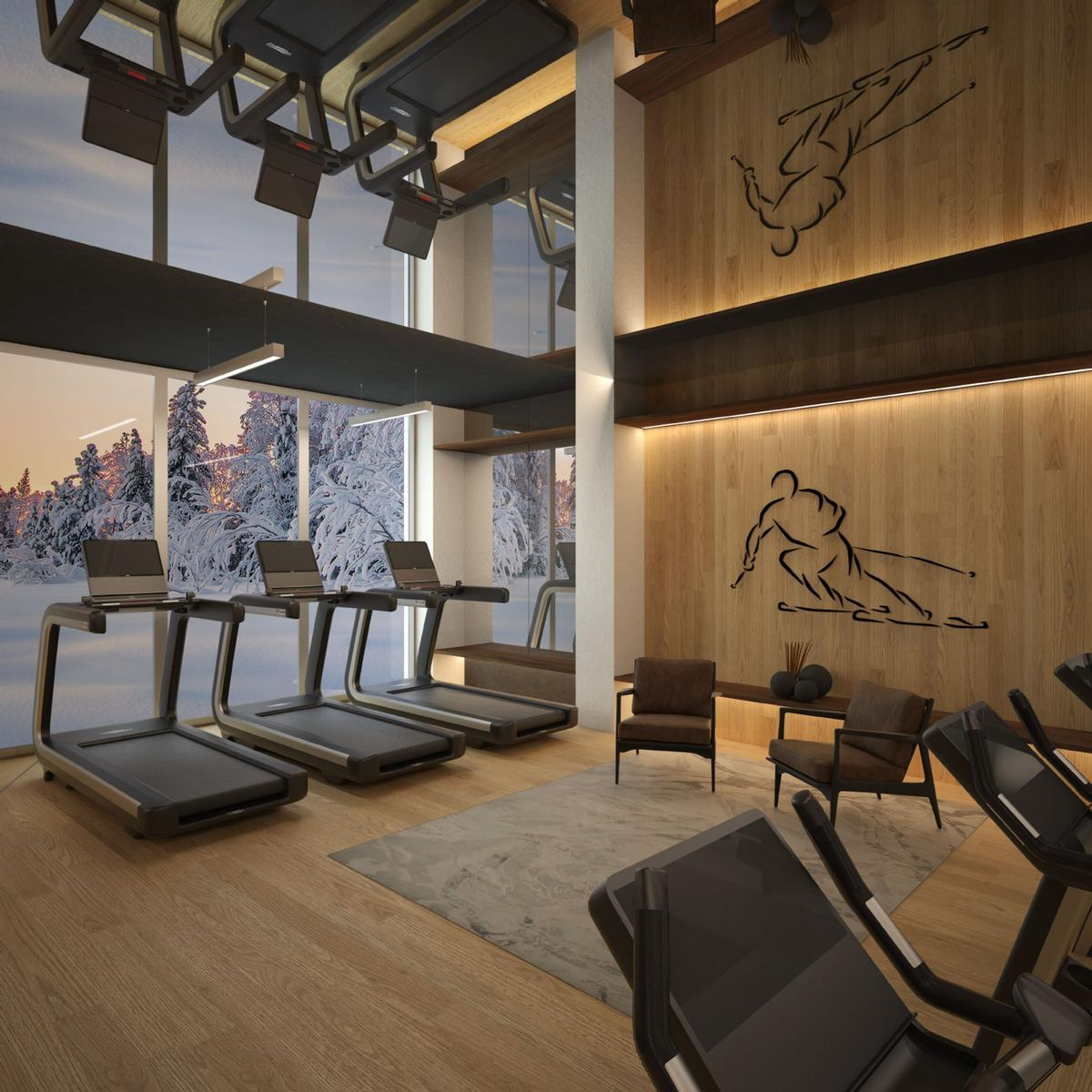 Residents will have access to the resort's many fitness and spa amenities. / Courtesy of Lefay Resorts