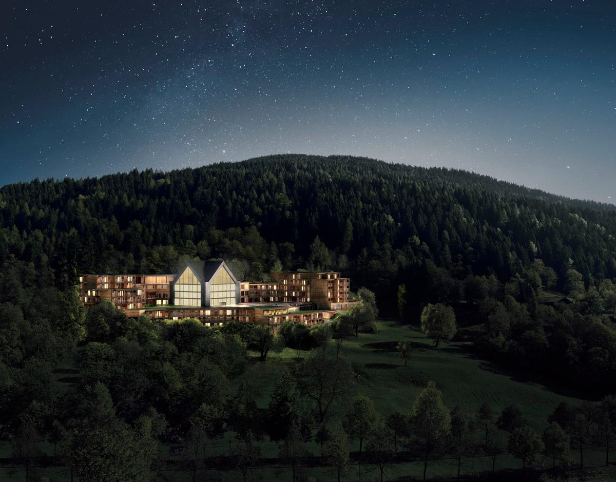 The hotel is set in the UNESCO-recognised Brenta Dolomites region in Italy. / Courtesy of Lefay Resorts