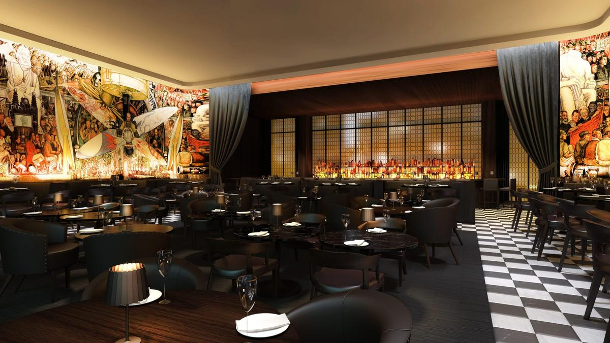 The highlight of the Times Square Edition will be its expansive nightclub, described by Ian Schrager as 'the perfect place to escape into fantasy'. / Courtesy of Marriott International