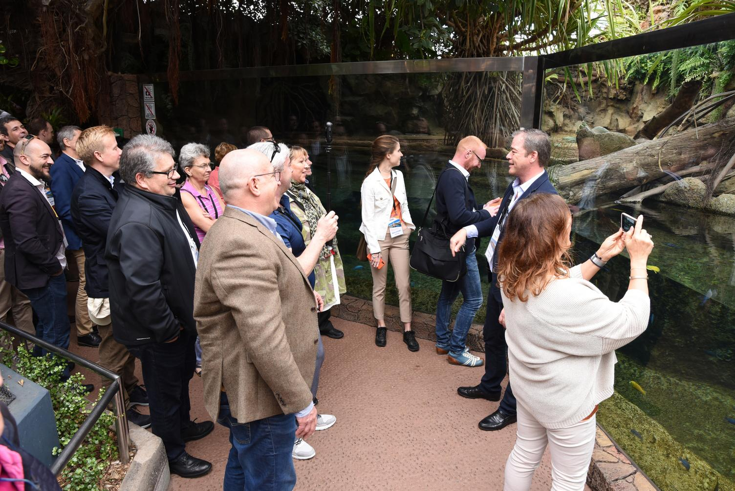 The event included visits to local attractions Loro Parque, Siam Park and Poema Del Mar / IAAPA