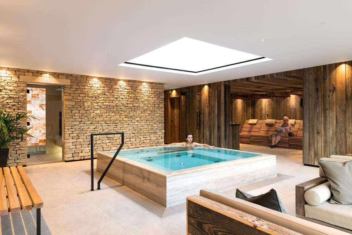 The Living Well spa was designed by Russell King from Butterscotch Design