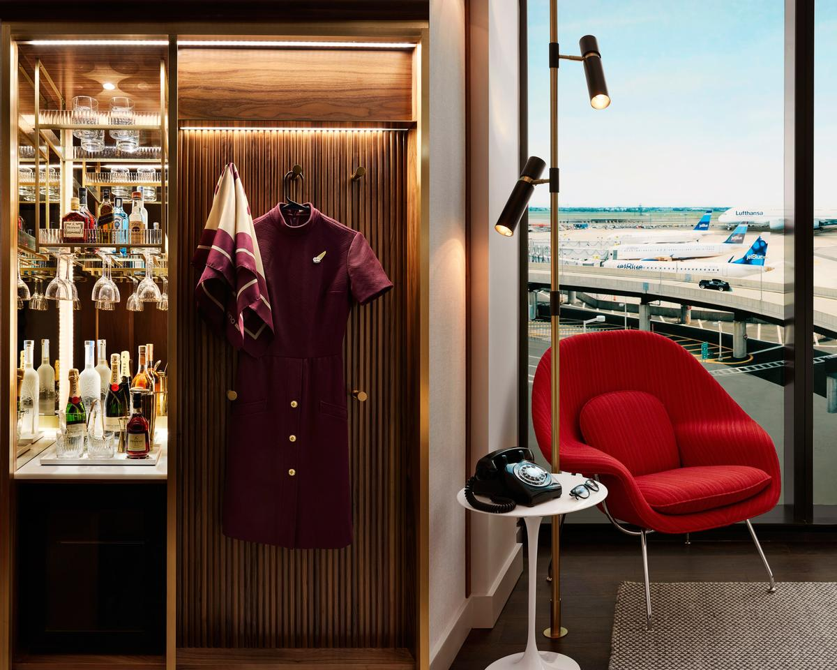 Guest rooms will pay homage to the then-nascent aviation and space industries of the Sixties. / Courtesy of David Mitchell