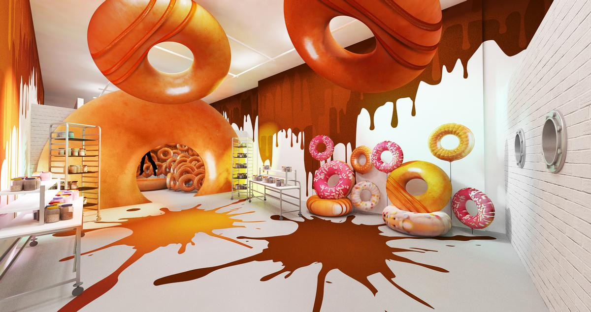 Krispy Kreme's 'indulgent doughnut playground' is set to pop up in Central London in March