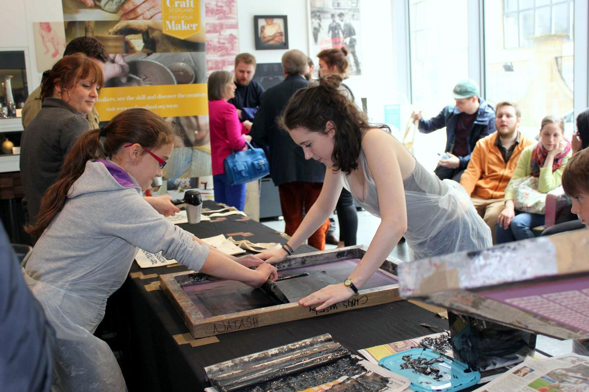 Young people participating in a creative workshop in Scotland