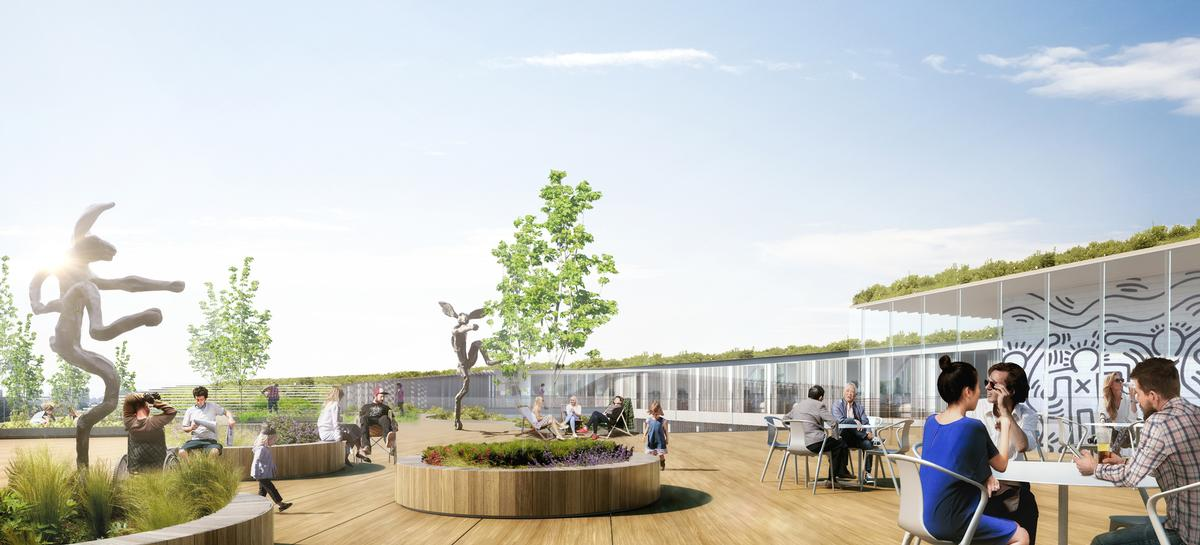 Outdoor green areas will be built in accordance with the 'agrotherapic' philosophy espoused by urban gardening consultancy Merci Raymond. / Courtesy of GA Smart Building