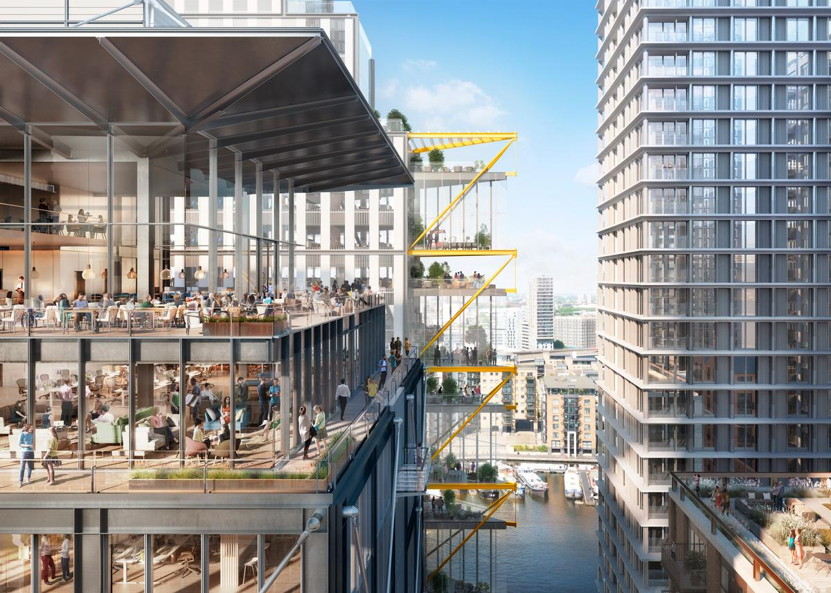 The entire Wood Wharf master plan is slated to be delivered by 2023. / Courtesy of Pilbrow and Partners