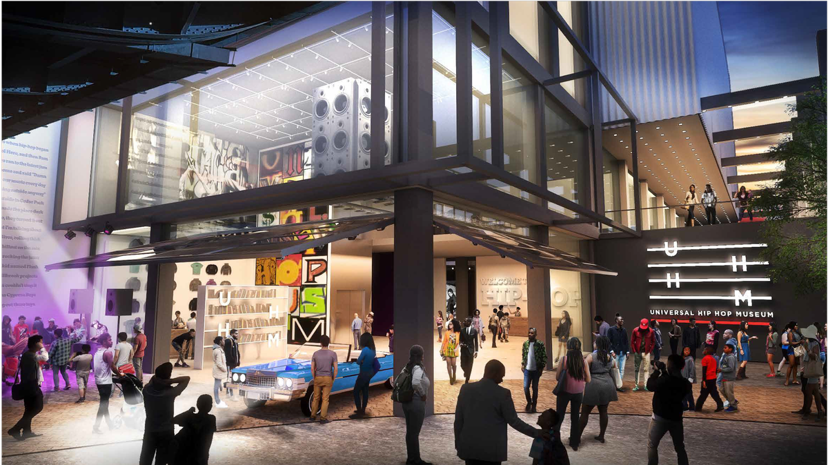 The museum is expected to debut in 2023. / Courtesy of the Universal Hip Hop Museum