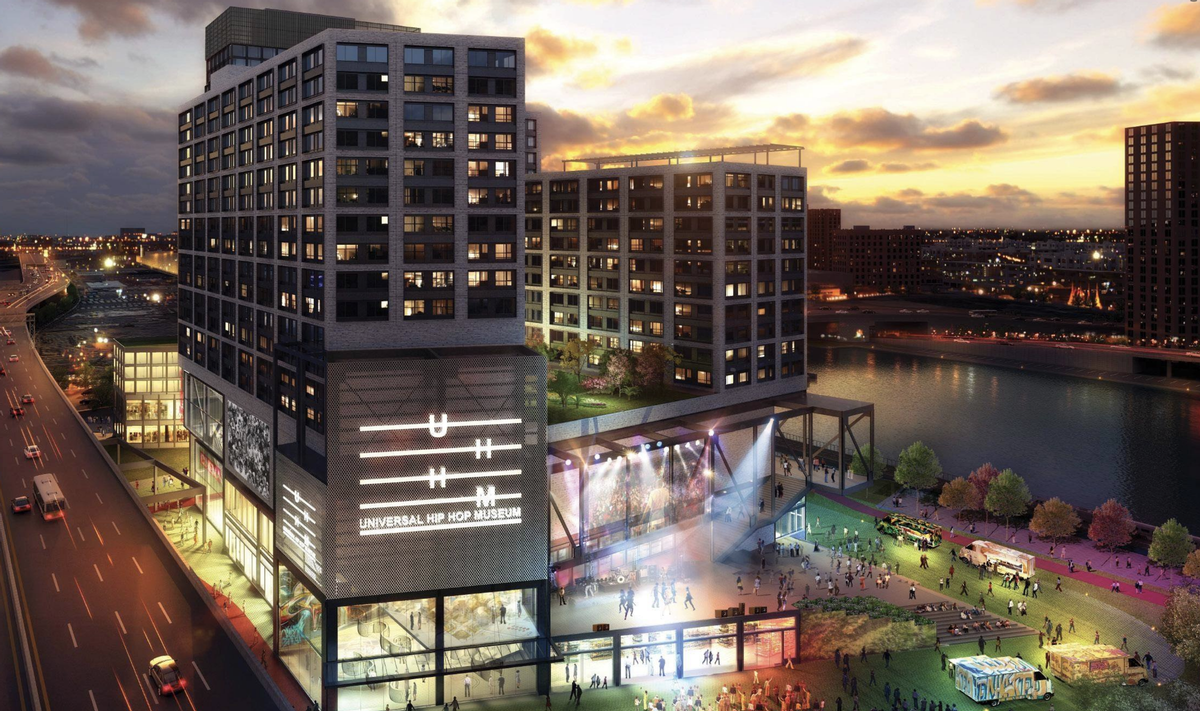 UHHM will form part of the Bronx Point development. / Courtesy of the Universal Hip Hop Museum