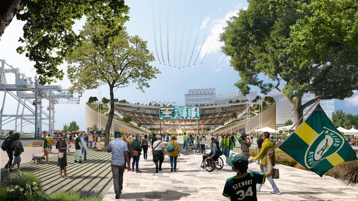 Oakland Athletics president Dave Kaval said the changes resulted from a desire to make the Oakland Stadium more fan-friendly. / Courtesy of Bjarke Ingels Group