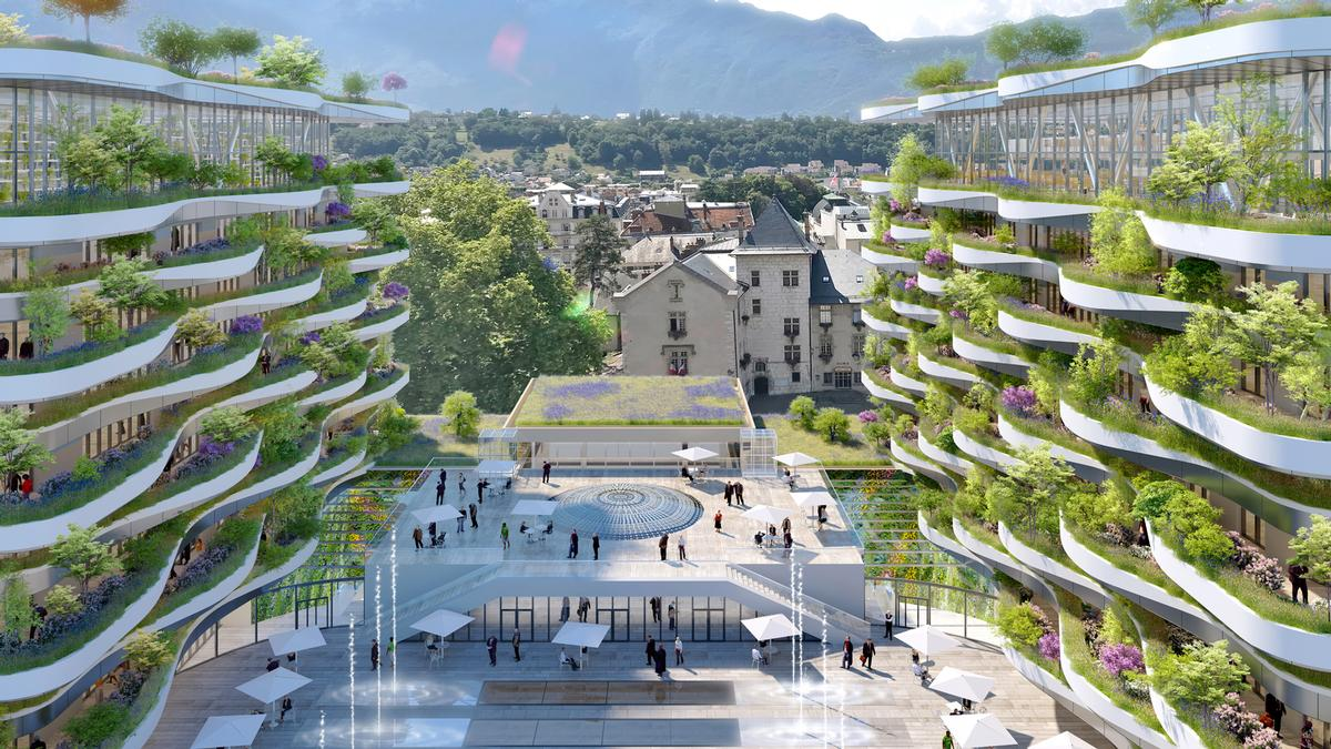 The facility will also boast sky villas, a commercial gallery, spa facilities, and an exhibition space. / Courtesy of Vincent Callebaut