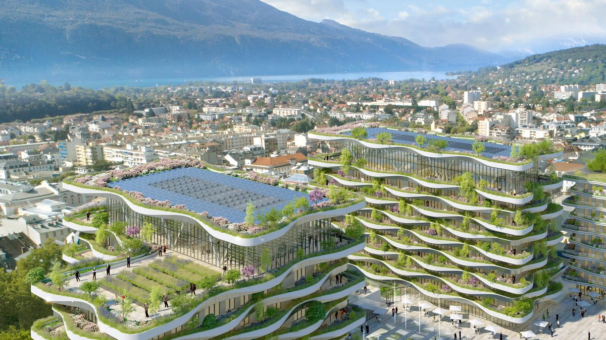 The property will also feature an aquaponic farm. / Courtesy of Vincent Callebaut