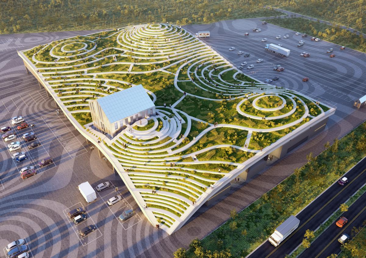 The rooftop park will also feature fruit gardens and rest areas. / Courtesy of MVRDV