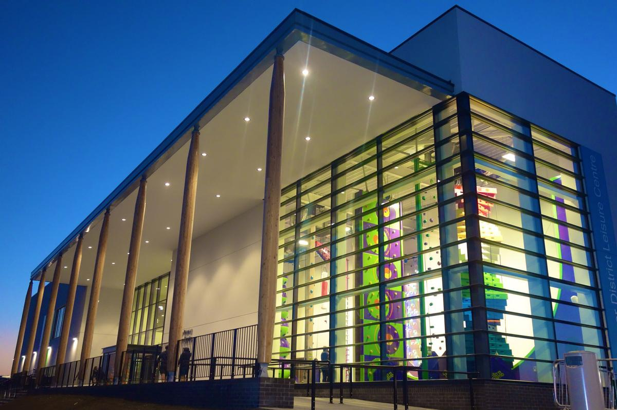 The £26m leisure centre was design by GT3 Architects and built by BAM Construction