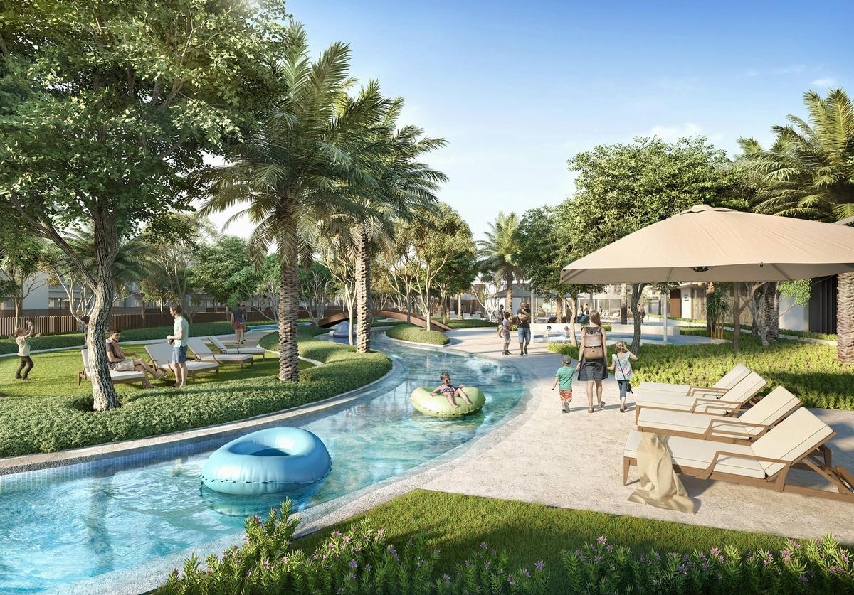 The residences will play host to multiple sports facilities, a lazy river, and a fitness centre. / Courtesy of Emaar Development