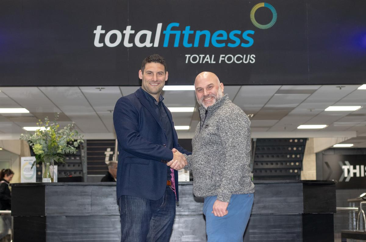 Ian Twitchen (left) of Total Fitness with Ben Hattersley from Life Fitness