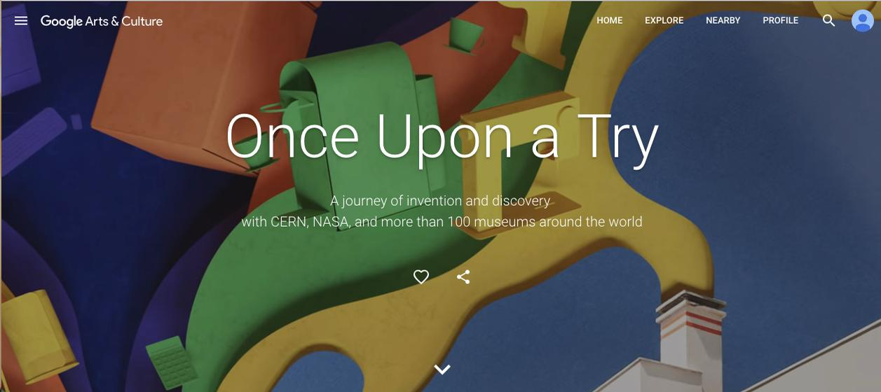 Featuring over 200,000 artefacts, Once upon a Try is an ambitious digital project built in collaboration with teams from institutions including NASA, CERN and Smithsonian