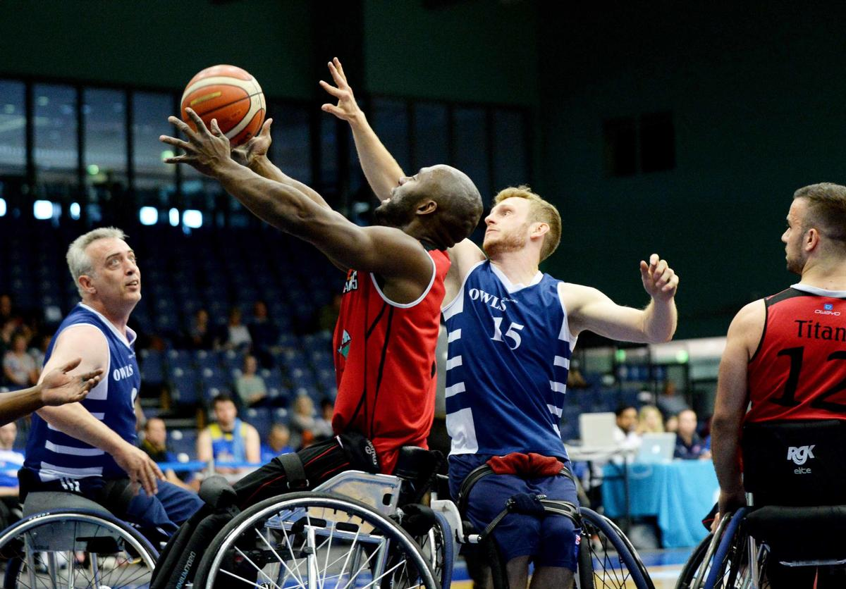 Wheelchair basketball is a fast-paced, competitive sport