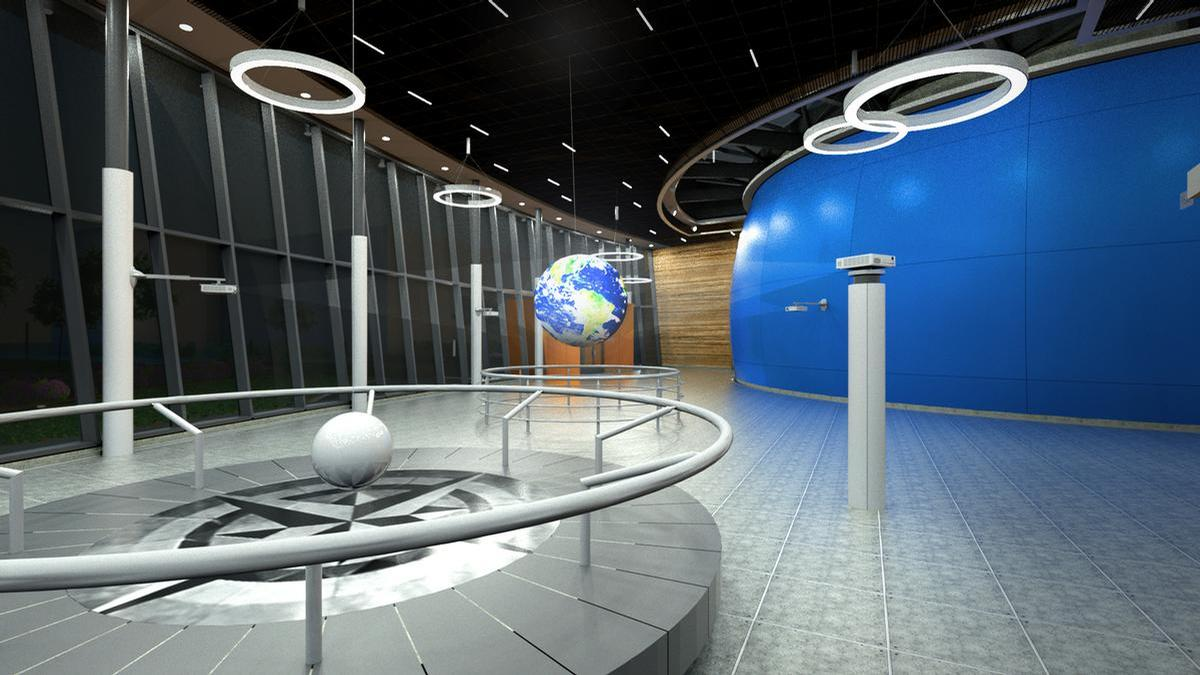 It will house a Foucault pendulum that demonstrates the Earth's rotation and a 'Science on a Sphere' exhibit that explores an astronaut's perspective on the Earth's weather patterns