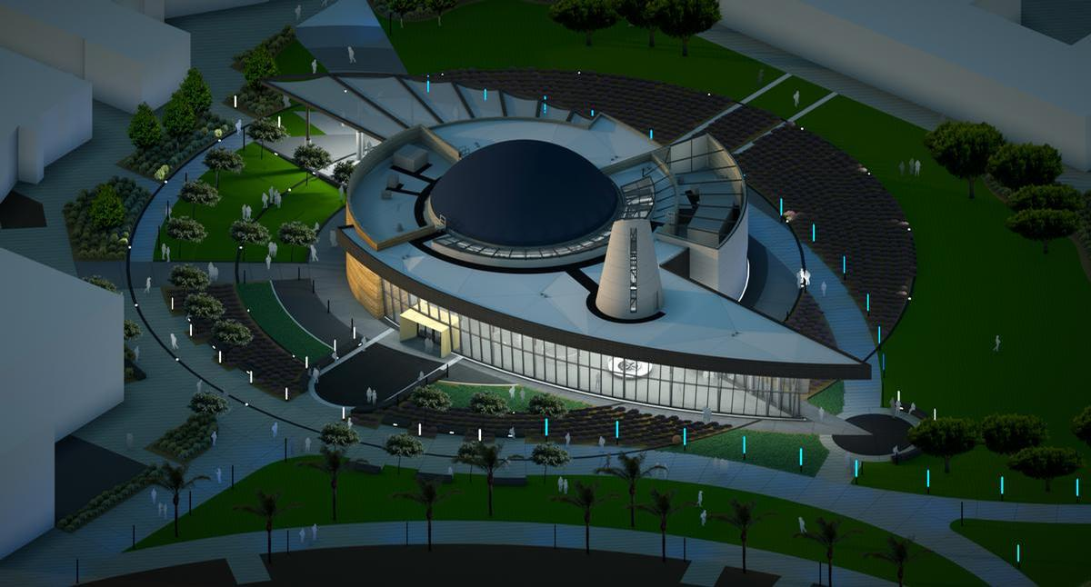 The US$23m (€20.3m, £17.3m) project broke ground in 2016 on the site of the previous planetarium at the college