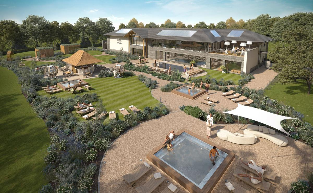 The multisensory wellness garden is designed to extend the spa experience outside