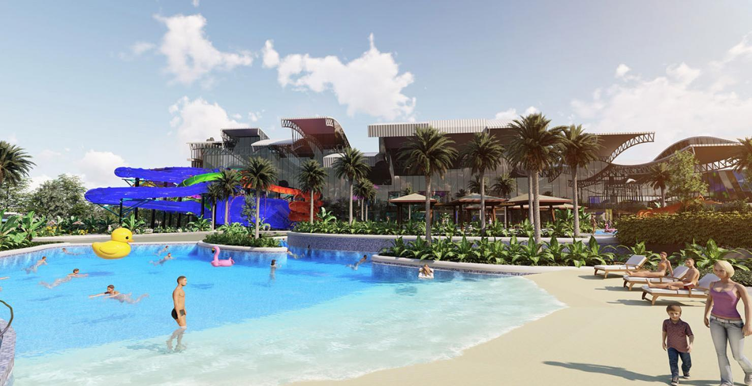 A rendering of the proposed Zagame's Wild Water Park in Melbourne