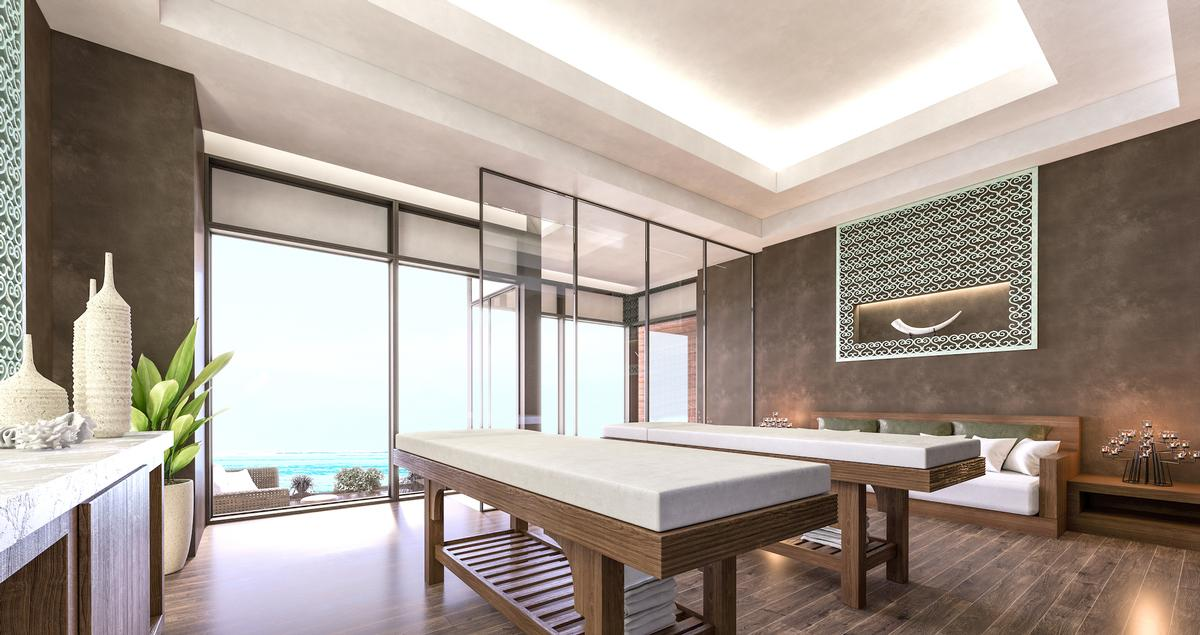The Angsana Spa will feature 16 treatment rooms and five outdoor spa pavilions, with treatments that place special emphasis on the use of natural ingredients