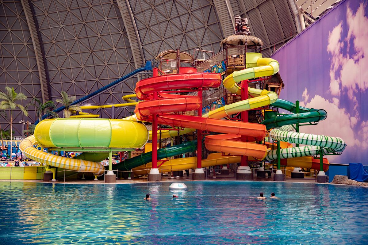 Polin created the new play structure by combining several of its bestselling waterslides