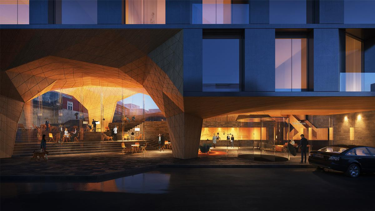 The architects' intervention will help accommodate the region's growing number of tourists. / Courtesy of Henning Larsen