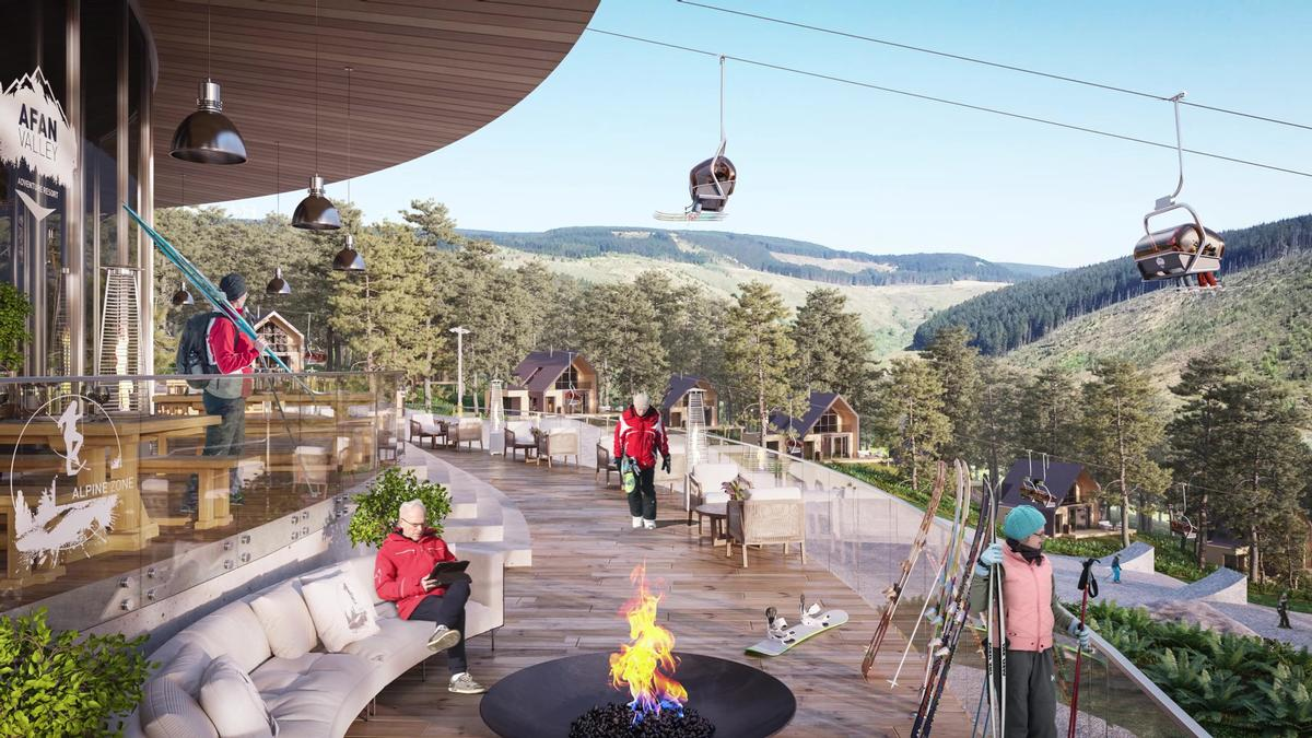 Afan Valley will also offer 600 private lodges and apartments. / Courtesy of Afan Valley Adventure Resort