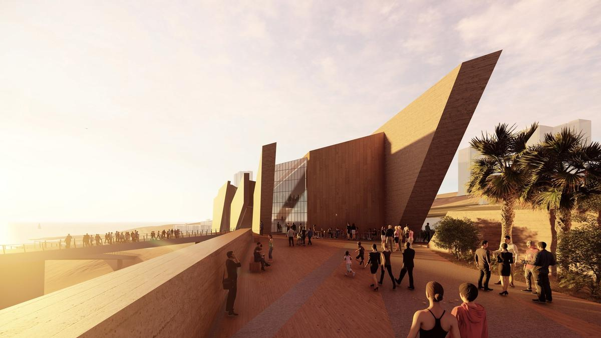 The new 3,760sq m (40472.3sq ft) building will allow for a larger showcase of the existing museum collection and provide a modern update to the original, which was completed in 1892 / Studio Libeskind