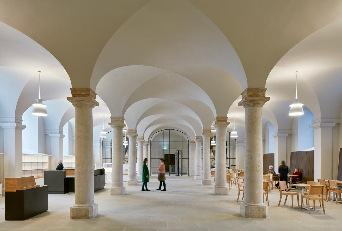 The conservation and design team included Hugh Broughton Architects, Martin Ashley Architects, Stephen Paine, and Sophie Stewart. / Courtesy of James Brittain