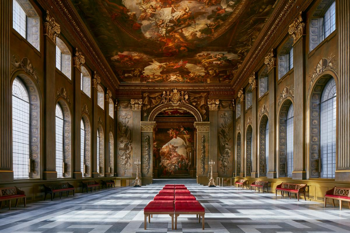 Painted Hall – formerly a ceremonial dining room – has been called a 'clever example of visual propaganda'. / Courtesy of James Brittain
