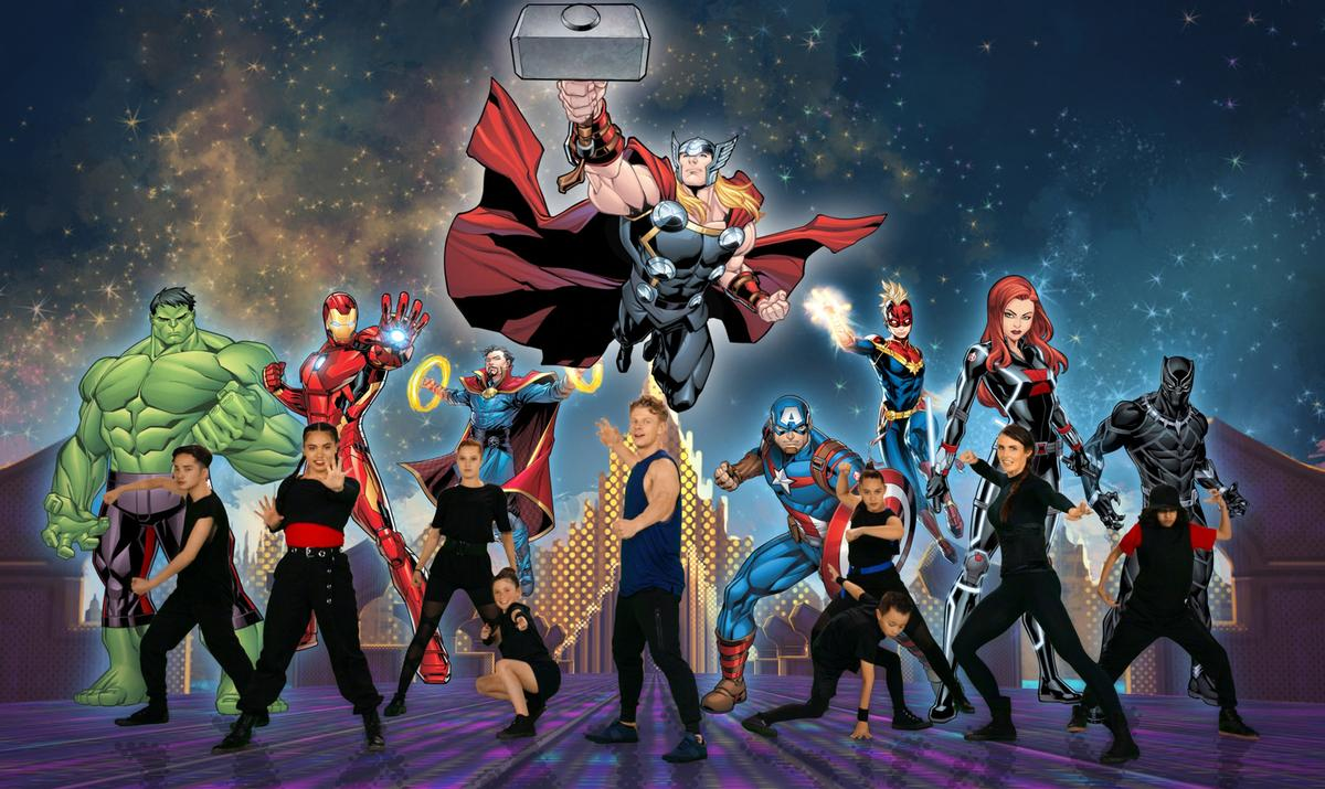 Les Mills has launched specially-created, five-minute workouts for kids under the 'Move Like The Avengers' banner