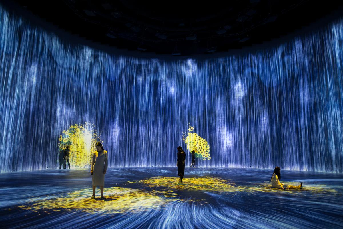 The long-anticipated museum features a number of unique art installations and exhibits. / Courtesy of teamLab