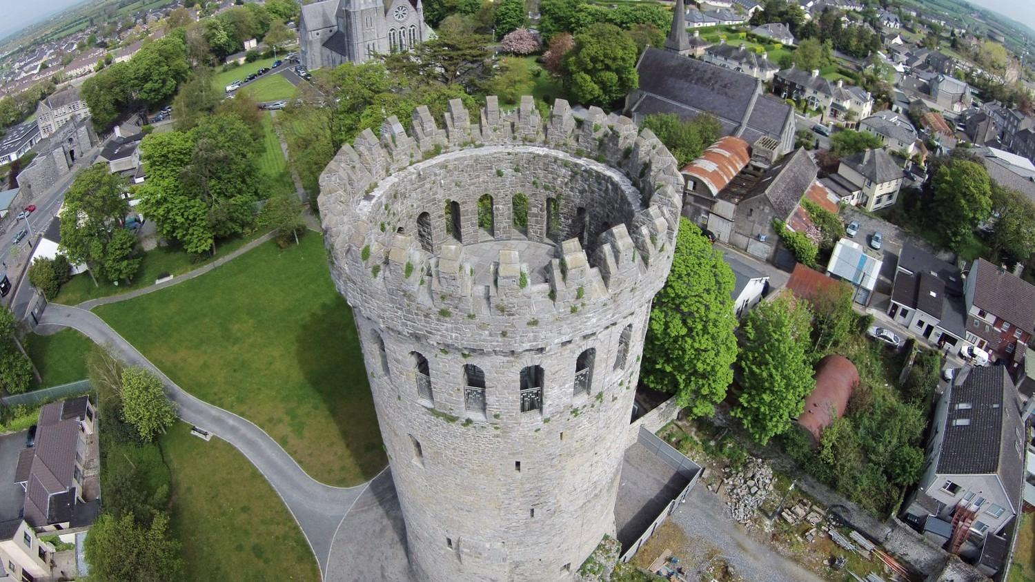 Nenagh, County Tipperary, whose prominent castle and other assets could make it viable for the fund / Discoverloughderg.ie